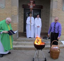 Click to view album: Burning of Palms for Ash Wednesday