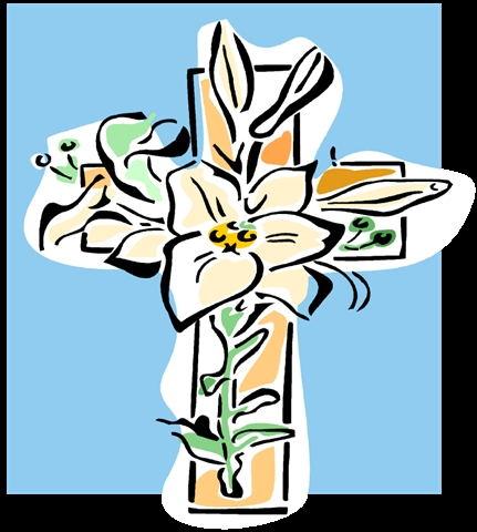 cross with lily