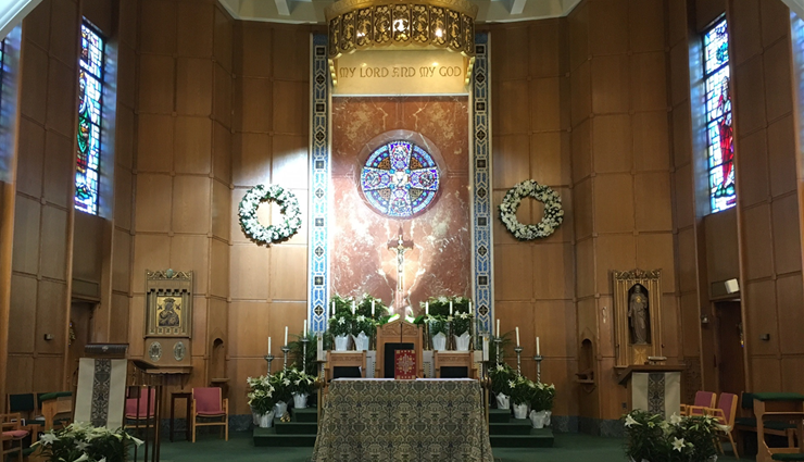 Church Main Altar Easter 2018
